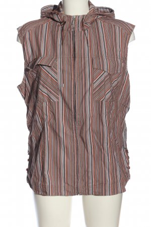 Cecil Hooded Vest striped pattern casual look