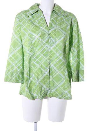 Cecil Karobluse grün-weiß grafisches Muster Business-Look