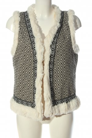 Cecil Fake Fur Vest cream-black allover print casual look