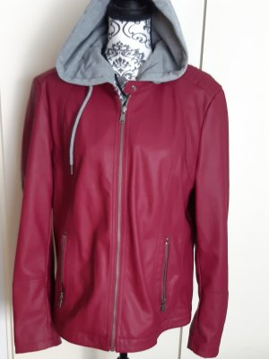 Cecil Faux Leather Jacket bordeaux
