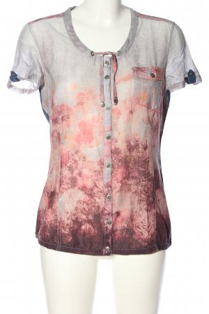 Cecil Kurzarm-Bluse abstraktes Muster Casual-Look