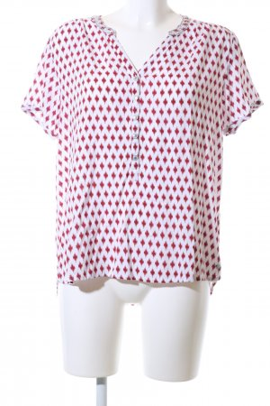 Cecil Kurzarm-Bluse rot-weiß Allover-Druck Casual-Look