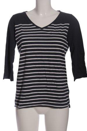 Cecil Kurzarm-Bluse schwarz-weiß Streifenmuster Casual-Look