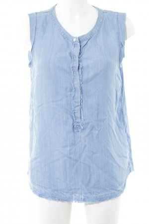 Cecil Kurzarm-Bluse blau Casual-Look