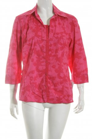 Cecil Kurzarm-Bluse pink florales Muster Casual-Look