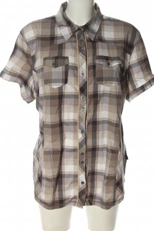 Cecil Short Sleeve Shirt brown-white check pattern casual look