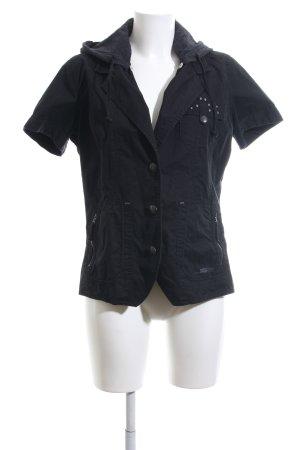 Cecil Shirt met korte mouwen zwart casual uitstraling