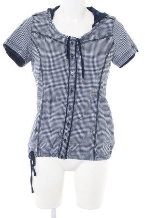 Cecil Shirt met korte mouwen blauw-wit geruite print casual uitstraling