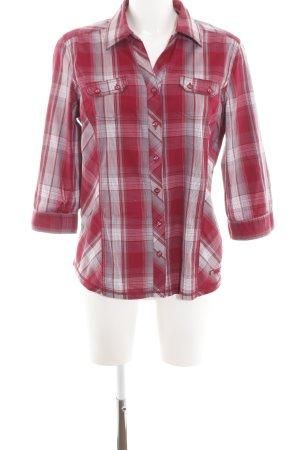 Cecil Shirt met korte mouwen rood-lichtgrijs geruite print casual uitstraling