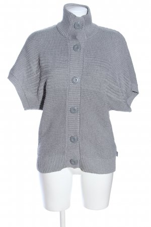 Cecil Short Sleeve Knitted Jacket light grey casual look