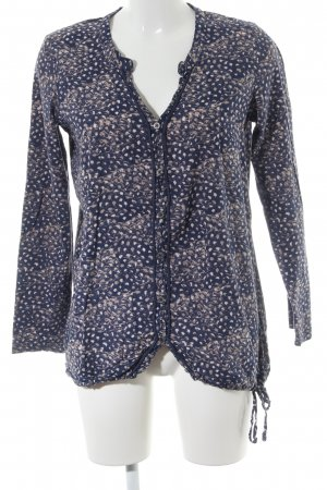 Cecil Langarm-Bluse Allover-Druck Casual-Look