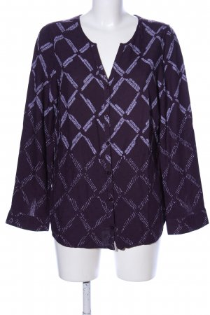Cecil Langarm-Bluse lila Allover-Druck Casual-Look
