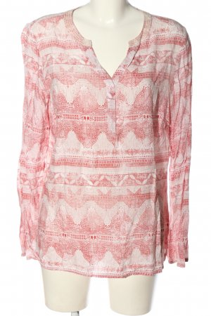 Cecil Langarm-Bluse weiß-rot Allover-Druck Casual-Look