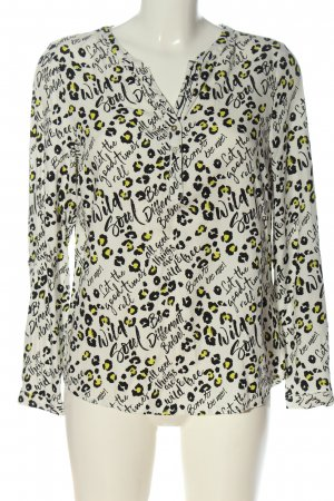 Cecil Langarm-Bluse Leomuster Casual-Look