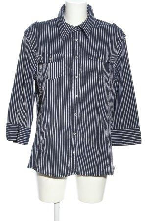 Cecil Langarm-Bluse blau-weiß Streifenmuster Business-Look