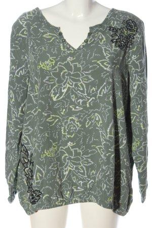Cecil Slip-over Blouse khaki allover print casual look