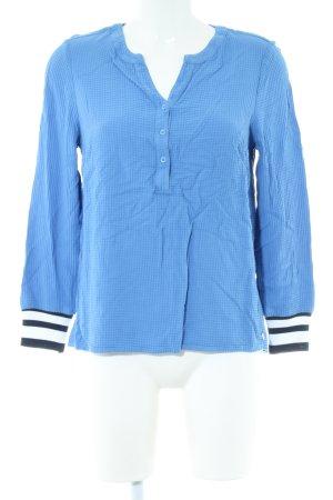 Cecil Langarm-Bluse blau-schwarz Streifenmuster Casual-Look