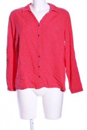 Cecil Langarm-Bluse rot Allover-Druck Business-Look