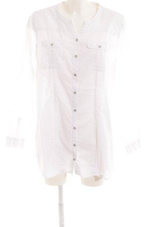 Cecil Langarm-Bluse weiß Stickereiverzierung