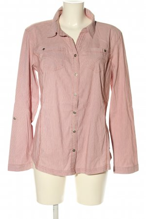 Cecil Langarmhemd pink Streifenmuster Casual-Look
