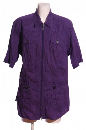 Cecil Langarmhemd lila Streifenmuster Casual-Look