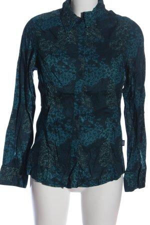 Cecil Langarmhemd blau abstraktes Muster Business-Look