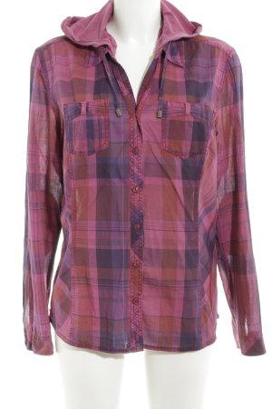 Cecil Shirt met lange mouwen roze-blauw geruite print casual uitstraling