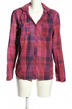 Cecil Langarmhemd pink-lila Allover-Druck Casual-Look