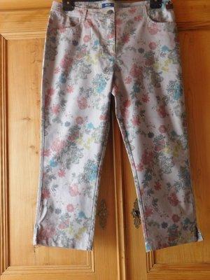 Cecil: leichte Jeans,  Festbund, Grau bedruckt, Gr. 33