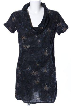 Cecil Long-Bluse blau-schwarz Streifenmuster Casual-Look