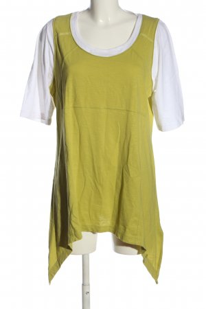 Cecil Lange blouse khaki-wit casual uitstraling