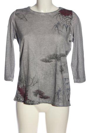 Cecil Longsleeve light grey flower pattern casual look