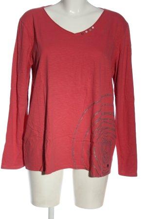 Cecil Manica lunga rosa-grigio chiaro stile casual