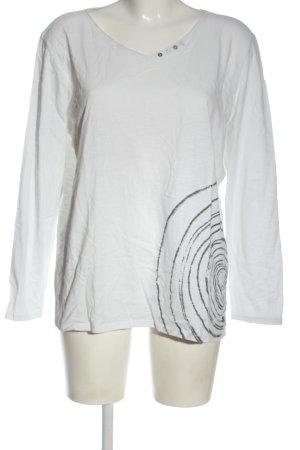Cecil Manica lunga bianco-grigio chiaro stile casual