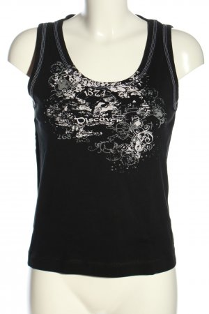 Cecil Muscle Shirt black-white themed print casual look