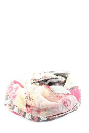 Cecil Tela palestino rosa-blanco puro estampado con diseño abstracto