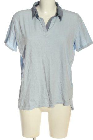 Cecil Polo-Shirt blau-hellgrau Casual-Look