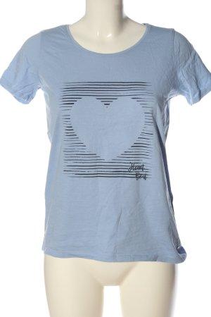 Cecil Print-Shirt blau-schwarz Motivdruck Casual-Look