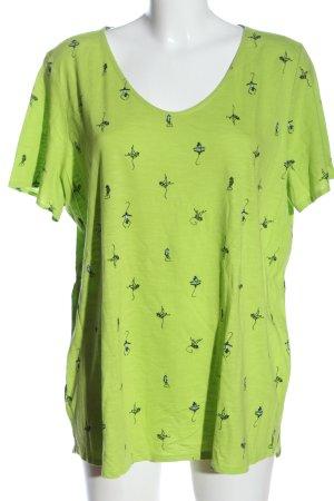 Cecil Print Shirt green-black allover print casual look