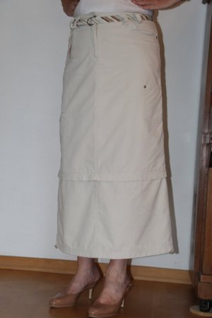 Cecil Jupe cargo beige clair coton