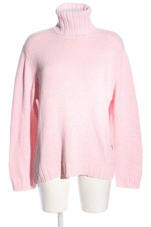 Cecil Rollkragenpullover pink Zopfmuster Casual-Look