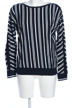Cecil Crewneck Sweater black-white striped pattern casual look