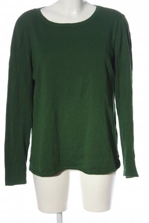 Cecil Kraagloze sweater groen gestippeld casual uitstraling