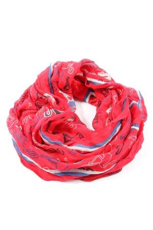 Cecil Écharpe ronde rouge motif abstrait style décontracté