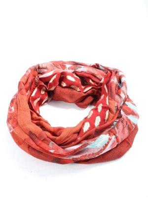 Cecil Écharpe ronde rouge-doré imprimé allover style décontracté