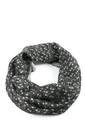 Cecil Écharpe ronde noir-gris clair Motif de tissage style décontracté