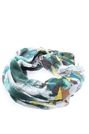 Cecil Rundschal weiß-türkis abstraktes Muster Casual-Look