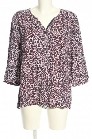 Cecil Slip-over blouse wit-bruin volledige print casual uitstraling