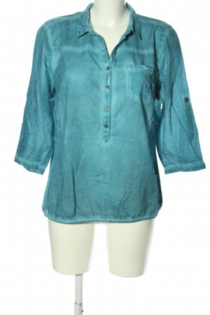 Cecil Slip-over Blouse turquoise casual look