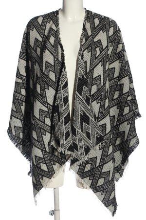 Cecil Mantilla negro-blanco estampado con diseño abstracto look casual